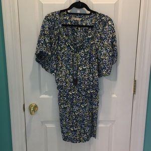 Rebecca Taylor green floral dress